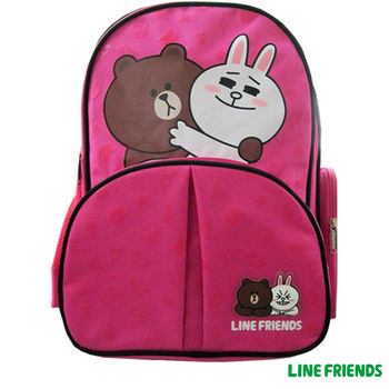 【LINE FRIENDS】護脊雙層書背包(C款_兔兔熊大)