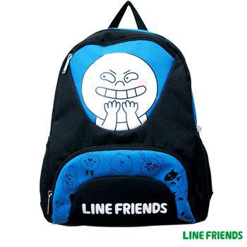 【LINE FRIENDS】雙層書背包(B款_饅頭人)
