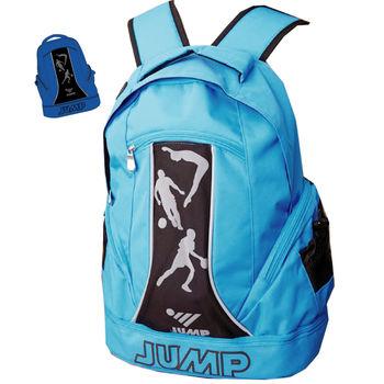 【JUMP】MIT多功能休閒後背包(藍黑)