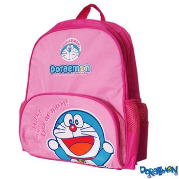 【Doraemon 哆啦A夢】時尚雙層書背包(C款_粉桃)