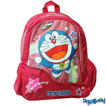 【Doraemon 哆啦A夢】時尚雙層書背包(A款_桃)