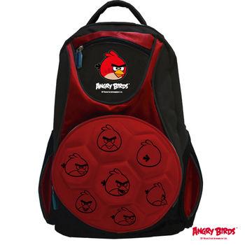 【Angry Birds 憤怒鳥】足球造型護脊書背包(紅)