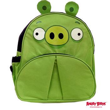 【Angry Birds 憤怒鳥】造型兒童書背包(綠色小豬)