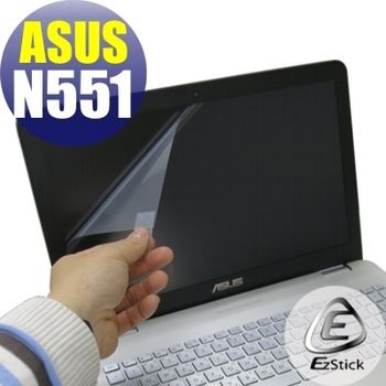 【EZstick】ASUS N551 N551J  專用 靜電式筆電LCD液晶螢幕貼 (鏡面螢幕貼)