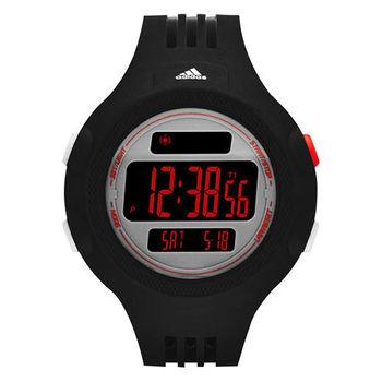 adidas 精英休閒冷光電子腕錶-黑/53mm ADP3138