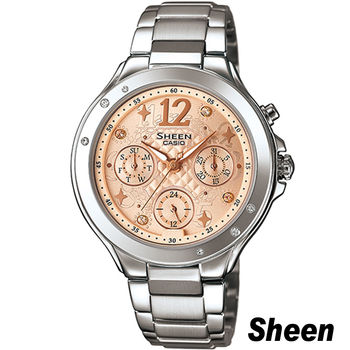CASIO SHEEN 繽紛之美時尚腕錶 SHE-3032D-9A 橘