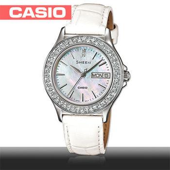 【CASIO SHEEN系列】日系甜美氣質皮帶女錶(SHE-4800L)