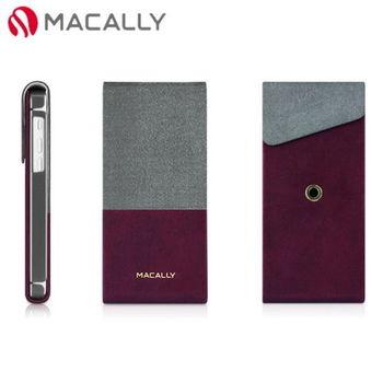 【Macally】iPhone 5C直掀式站立皮殼保護套-酒紅(SSTANDP6BR)