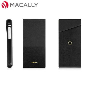 【Macally】iPhone 5C直掀式站立皮殼保護套-黑(SSTANDP6B)