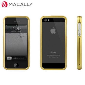 【Macally】iPhone 5/5S超薄免螺絲鋁合金邊框保護殼-金(ALUMRIM5G)