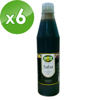 【LugliO義大利羅里奧】巴薩米克醋淋醬500MLx6瓶組