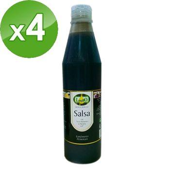 【LugliO義大利羅里奧】巴薩米克醋淋醬500MLx4瓶組