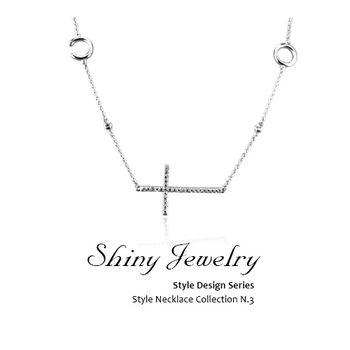 【炫麗珠寶】幸福十字架 純銀項鍊