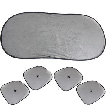 大橢圓遮陽板+小圓弧4入(2包)*加贈機車氣泡遮陽墊*