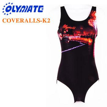 福利品出清OLYMATE 專業連身泳裝K2(亮面布)