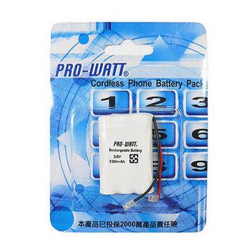 PRO-WATT  P140萬用接頭 無線電話電池3.6V 300mah (尺寸: AAA*3)