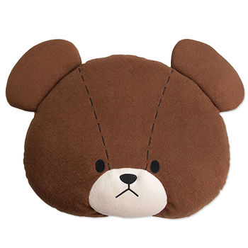 【The bears school】 小熊學校頭型靠墊 小熊款