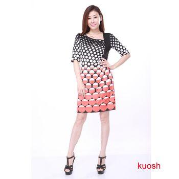 KUOSH幾何圖形顯瘦洋裝現貨+預購FB-1002