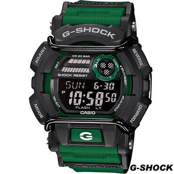 卡西歐 G-SHOCK 粗獷型男運動錶 GD-400-3 黑x綠