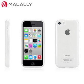 【Macally】iPhone 5C絢麗雙色軟質TPU保護套殼-透明(FLEXFITP6C)
