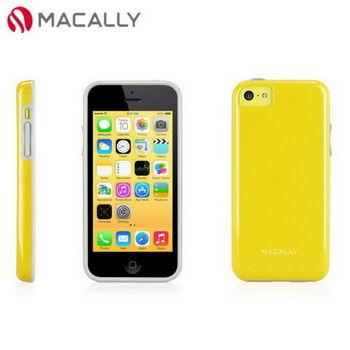 【Macally】iPhone 5C絢麗雙色軟質TPU保護套殼-黃橘(FLEXFITP6Y)