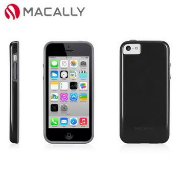 【Macally】iPhone 5C絢麗雙色軟質TPU保護套殼-黑(FLEXFITP6B)