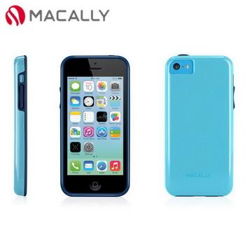 【Macally】iPhone 5C絢麗雙色軟質TPU保護套殼-藍(FLEXFITP6BL)
