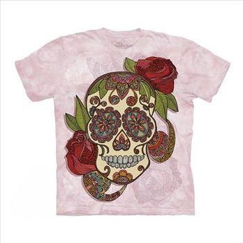 【摩達客】(預購)美國進口The Mountain 渦紋骷髏 純棉環保短袖T恤