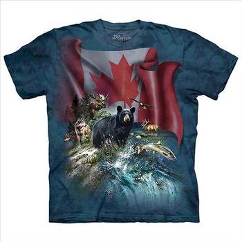 【摩達客】(預購)美國進口The Mountain 加拿大動物群 純棉環保短袖T恤