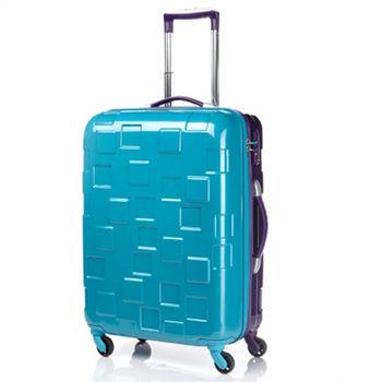Samsonite新秀麗BLOCCO 24吋科技方塊硬殼雙色拉桿行李箱-藍/紫
