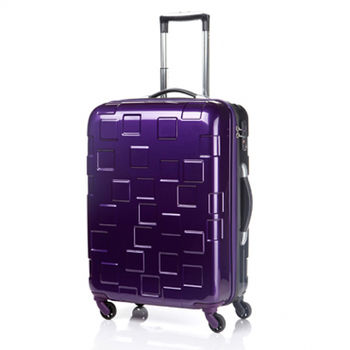 Samsonite新秀麗BLOCCO 20吋科技方塊硬殼雙色拉桿行李箱-紫/灰