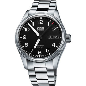 Oris Big Crown ProPilot 日曆星期機械腕錶-黑/45mm 0175276984164-0782219