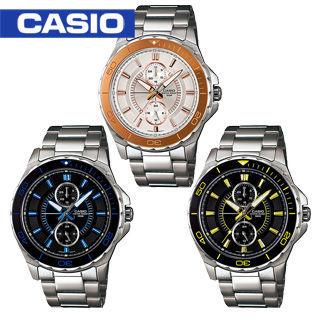【CASIO 卡西歐】時尚雙眼潛水運動錶(MTD-1077D)