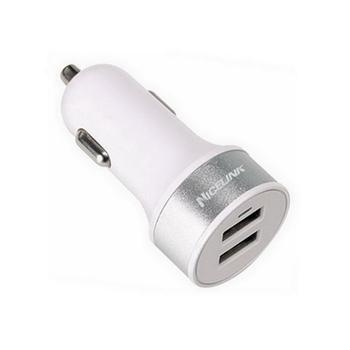 【FU】車用點煙器轉2.4A+1A雙USB輸出充電器(AU0015)