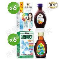 國安雙寶 ^#40 國安葉黃素90ml ^#42 6瓶 ^#43 國安統固安葡萄糖胺液全素