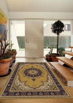 【范登伯格】芭比滑順絲質短毛編織不易沾染灰塵進口地毯(金黃)80x150cm