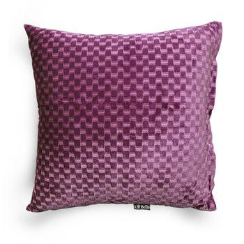 【義大利La Belle】時尚細絨靠墊 40x40cm-紫(含枕心)