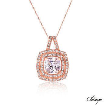 【夏亞珠寶】采顏 925銀鍍玫瑰金 項鍊