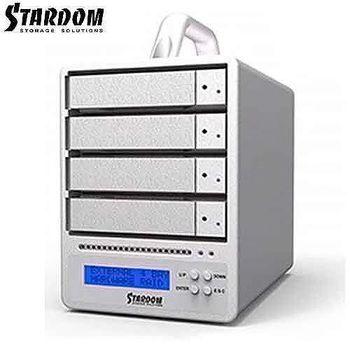 STARDOM 3.5吋USB3.0/eSATA/FW800/4bay磁碟陣列設備-SR4-WBS3+