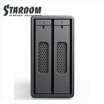 STARDOM 2.5吋USB3.0/2bay磁碟陣列設備-ST2-B3