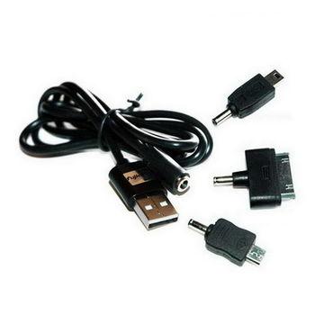 【FU】USB轉DC母頭 圓直線+三入轉接頭