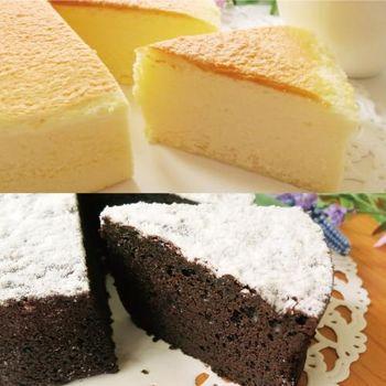 【CAKeees糕點家】雪飄布朗尼(5吋)+雲朵輕乳酪蛋糕(5吋)