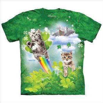 【摩達客】(預購)美國進口The Mountain 格林童話貓 純棉環保短袖T恤