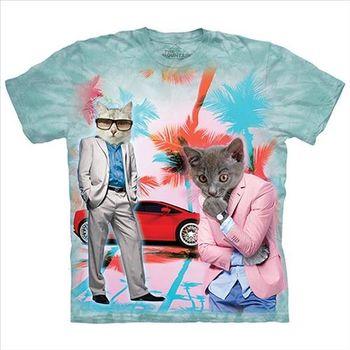 【摩達客】(預購)美國進口The Mountain 間諜貓 純棉環保短袖T恤