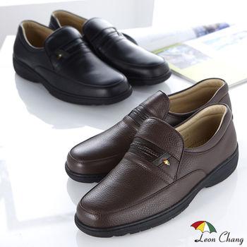 【Leon Chang】極緻小牛皮紳士休閒鞋