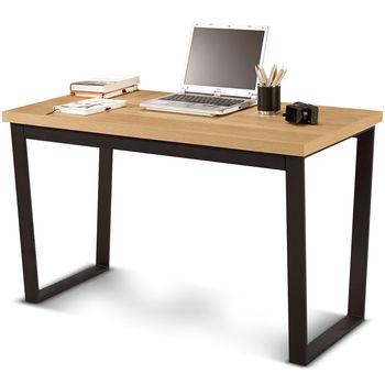 【日式量販】簡約工業風4尺書桌(兩色可選)