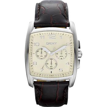 DKNY 雅典爵士計時腕錶-卡其白 NY1495