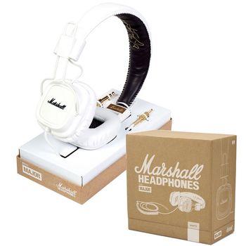 『Marshall』耳罩式線控耳機/手機可用-白色-公司貨保固 (Major White)