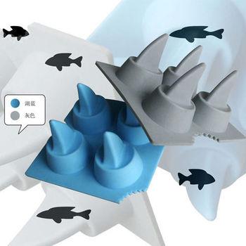 【iSFun】瘋狂白鯊矽膠模型製冰盒/隨機色