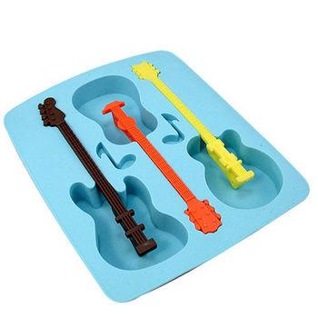 【iSFun】酷涼吉他矽膠模型製冰盒